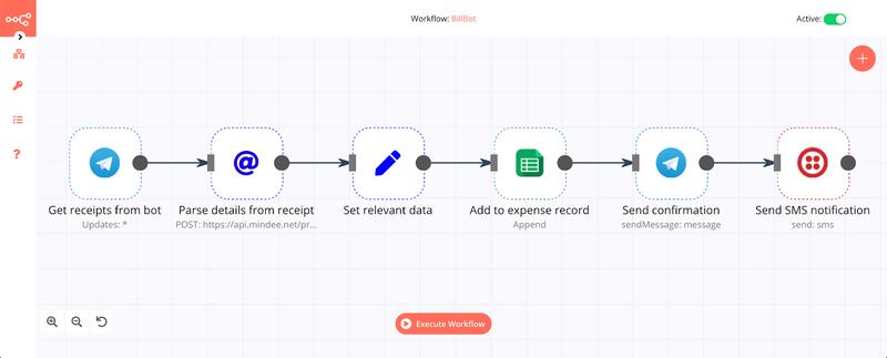 n8n workflow designer screenshot