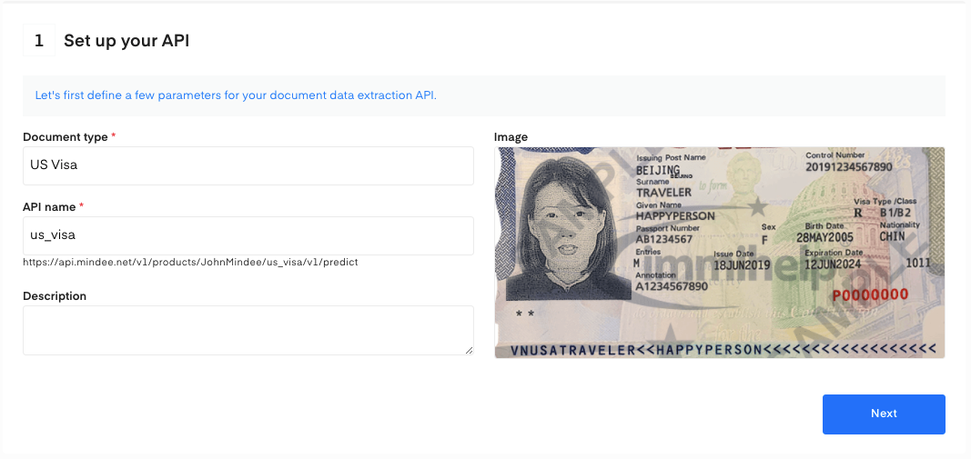 Set up your US Visa OCR API