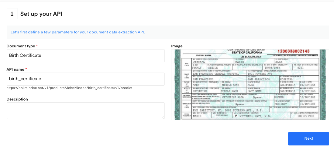 Set up your Birth Certificate OCR API